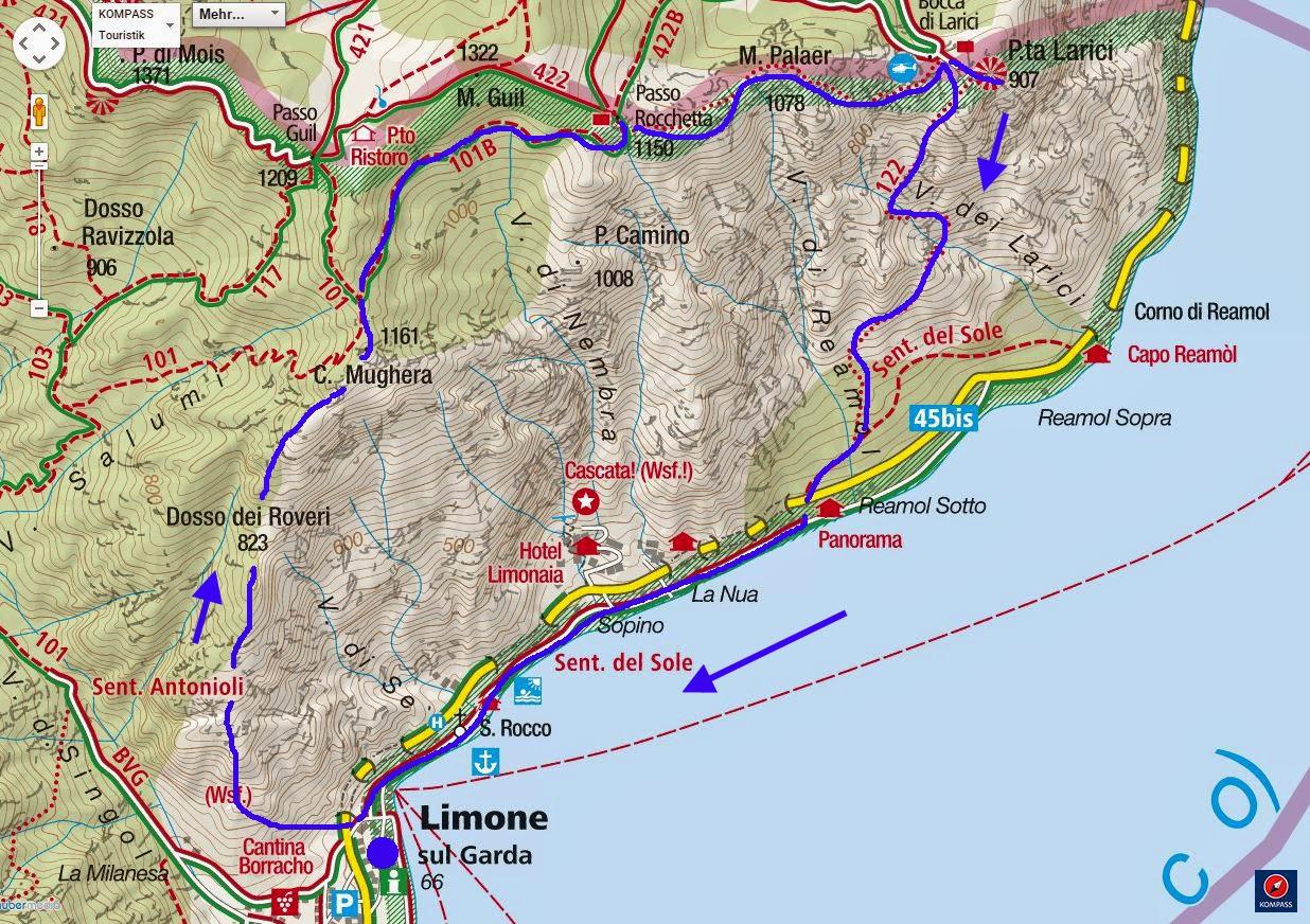 Creste della mughera monte guil 1322 m for Le pigne dei larici